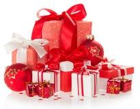 Julgåvor och leksaker arkivfoto