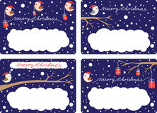 julgåvaetiketter vektor illustrationer