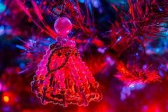 Julgarnering: Ängel som göras med pärlor Arkivfoton