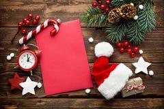 Julgarnering, bokstav till Santa Claus Fotografering för Bildbyråer