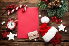 Julgarnering, bokstav till Santa Claus Arkivfoton