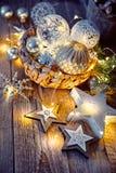Julgarnering för hälsning för nytt år för träd Royaltyfri Bild