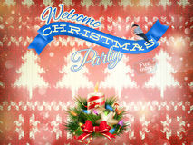 Julgarnering för nytt år 10 eps Royaltyfria Foton