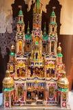 Julgarnering, Krakow, Polen royaltyfria bilder