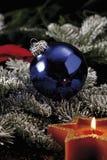 Julgarnering med julstruntsaken royaltyfri fotografi