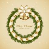 Julgarnering med klockor Arkivbilder