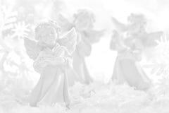 Julgarnering med ängel Arkivfoto