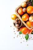 Julgarnering med tangerin Royaltyfria Foton