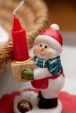 Julgarnering på bordlägga arkivbilder