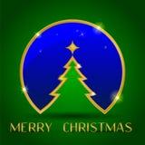 Julgarnering på grön bakgrund vektor illustrationer