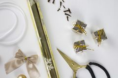 Julgarnering på vitbakgrund Royaltyfria Bilder