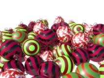 Julgarneringbollar av olika färger stock illustrationer