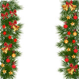 Julgirland med garneringar Fotografering för Bildbyråer