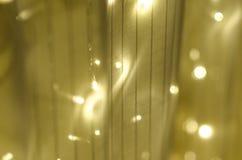 Julgirland på gardinen Arkivfoto