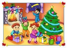 julglädje stock illustrationer