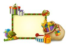 Julgnomen - drawrf - illustration för barnen Fotografering för Bildbyråer