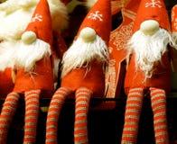 Julgnomer med snöflingor Royaltyfri Bild