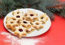 Julgodisen kallade Linz kakor arkivfoton