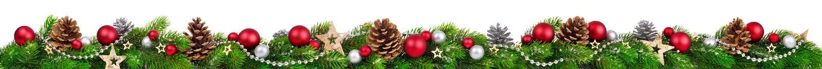 Julgräns, extra sned boll Royaltyfri Bild