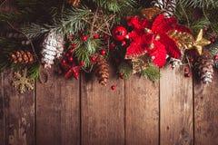 Julgränsdesign Arkivbilder