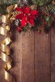 Julgränsdesign Arkivfoto