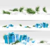 Julgränser Royaltyfri Fotografi