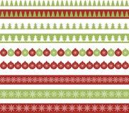Julgränser Arkivfoton