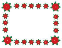 Julgränsram Arkivfoto