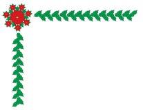 Julgränsram stock illustrationer