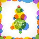 Julgran av färgbaubles Arkivfoto