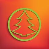 Julgran för din design Arkivbild