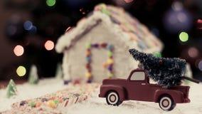Julgran för pepparkakahuset Royaltyfri Fotografi