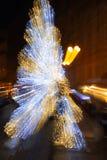 Julgran för rörelseljusabstrakt begrepp Royaltyfri Fotografi