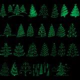 Julgran för xmas att semestra alla personer vektor illustrationer