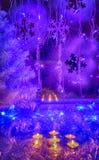 Julgran festliga stearinljus, tapet Royaltyfri Bild