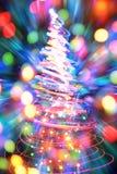 Julgran från färgljus Royaltyfri Fotografi