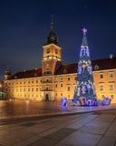 Julgran i gammal Warszawa Fotografering för Bildbyråer