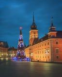 Julgran i gammal Warszawa Royaltyfri Fotografi