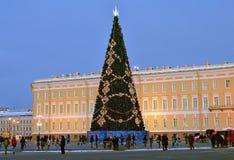 Julgran i St Petersburg, Ryssland Royaltyfri Foto