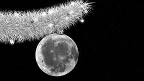 Julgran i utrymme Royaltyfri Foto