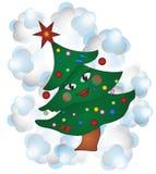 Julgran med ögon Arkivbilder