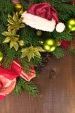 Julgran med bollar Royaltyfri Fotografi