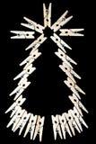 Julgran med den wood pinnen Royaltyfri Bild