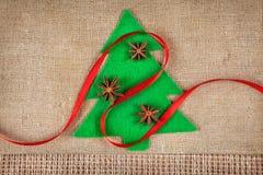 Julgran med kryddor Royaltyfri Bild