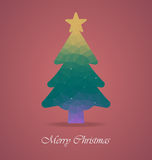 Julgran med polygonen Royaltyfri Fotografi