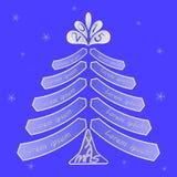 Julgran med utrymme för att skriva önska Royaltyfria Bilder