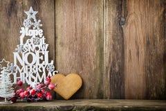 Julgran Noel önska, gran av bokstäverna Arkivbild