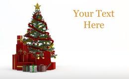 Julgran och gåvor stock illustrationer