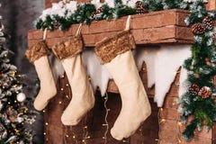 Julgran och garnering royaltyfri fotografi