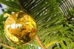 Julgran och julbollar Arkivfoton